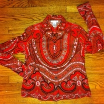 Women's Isaac Mizrahi Tribal Print Shirt