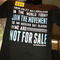 """End Slavery"" Join The Movement T-Shirt"