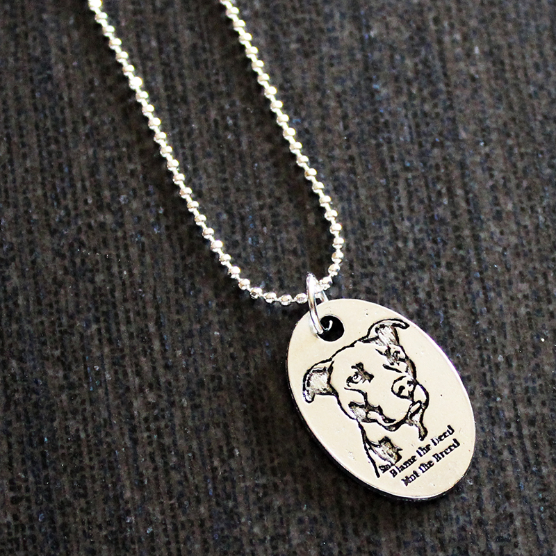 pewter blame the deed not the breed necklace on storenvy