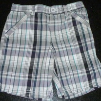 Navy/Gray/White Plaid Shorts-Faded Glory Size 24 Months