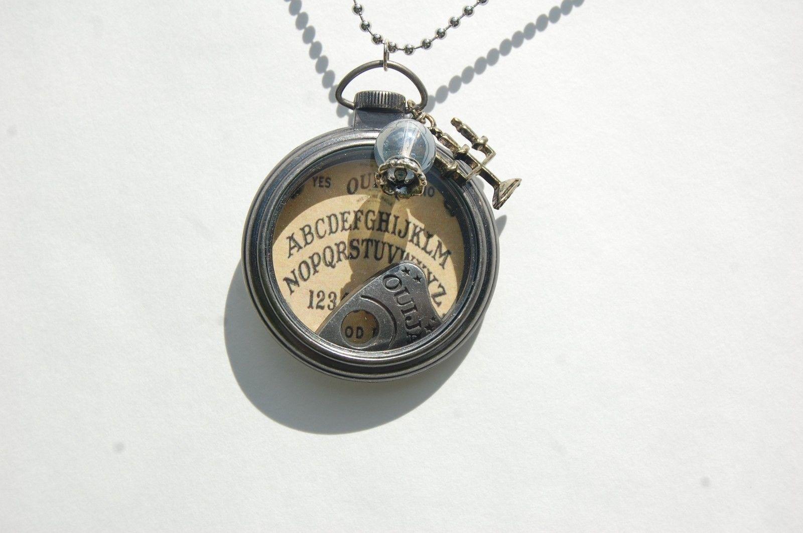 Ouija Board Necklace, Gothic Spirit Board Pendant, Halloween ...