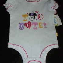 Too Cute Disney Onesie Size 0-3 Months NEW