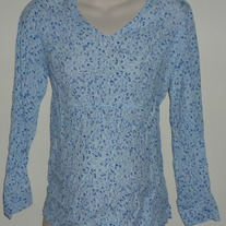 Blue Floral Top-Baby and Me Size Small