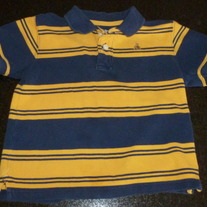 Navy/Yellow Stripe Polo Style Short Sleeve Shirt-Baby Gap Size 3T