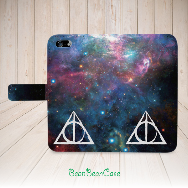 Deathly Hallows Harry Potter flip leather wallet case for iPhone 7/7 ...