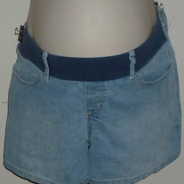 Light Denim Shorts-Announcements Maternity Size Medium  CLSR