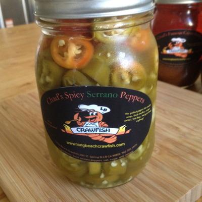 Chad's organic serrano peppers (16 fl oz)