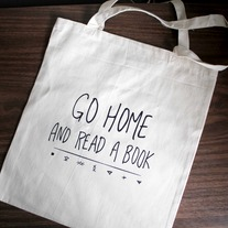 Go Home and Read a Book Tote Bag