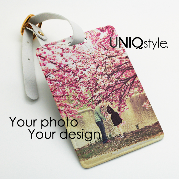 Personalized luggage tag, custom photo picture travel bag tag ...