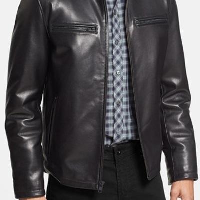 mens bomber leather jacket black men leather jacket leather jacket men thumbnail 2