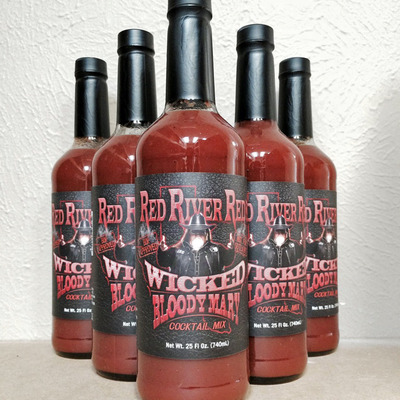 Case (12 bottles) of red river red's wicked bloody mary mix