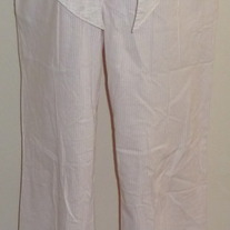 Pink/White Stripe Pants with Belt-Mimi Maternity Size Small
