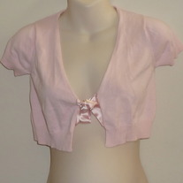 Pink Half Short Sleeve Sweater with Tie-Old Navy Maternity Size Small