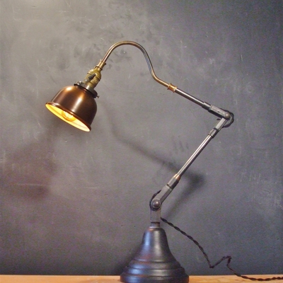 vintage industrial style desk lamp w copper shade dw vintage