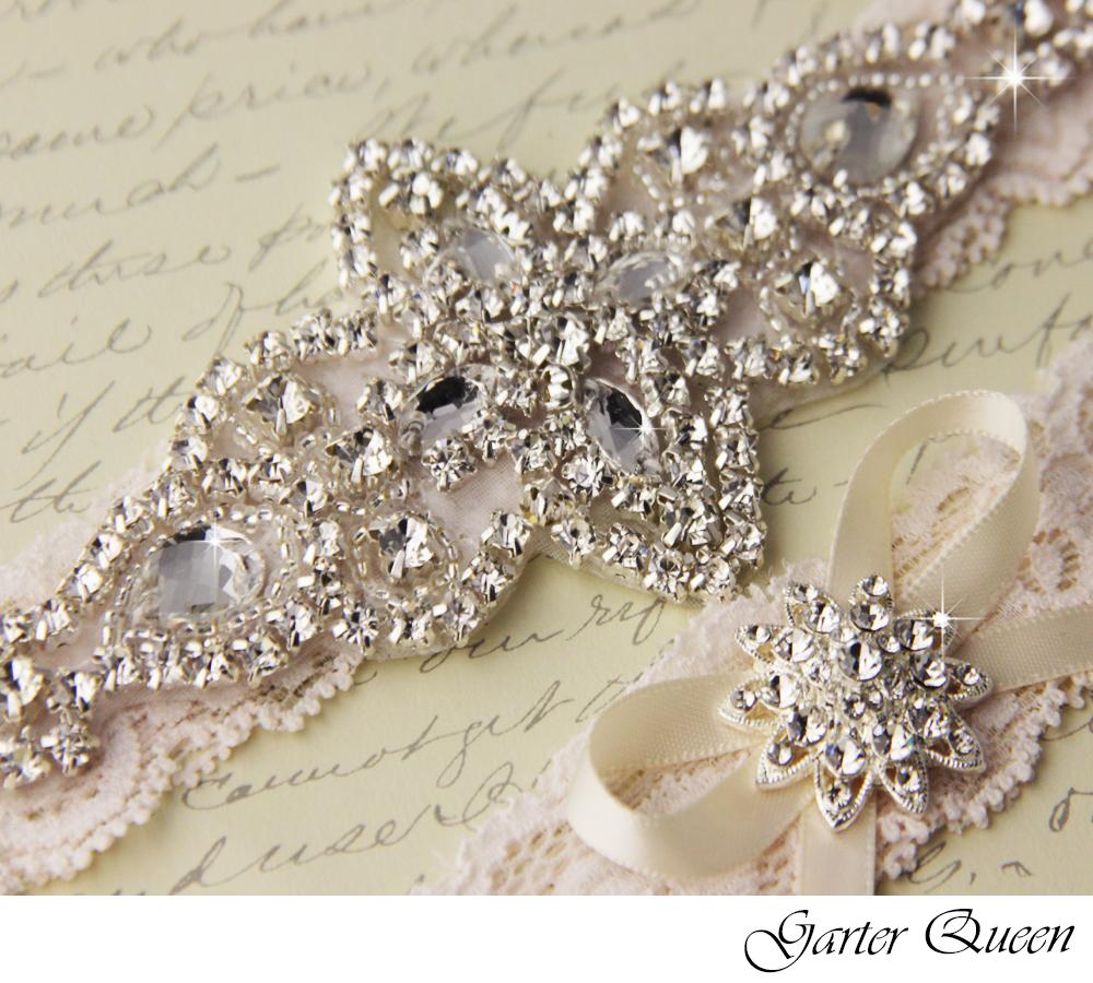 Wedding Garter Set Ivory