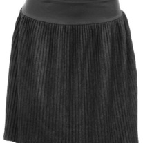 In M & L - dark gray ribbed flannel pleat skater skirt