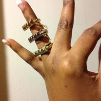 Stretch Stackable Ring Spike Ring