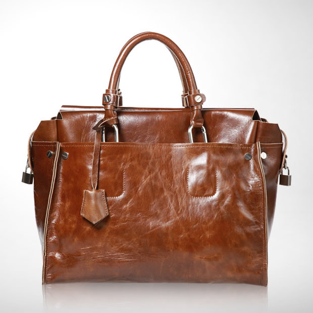 Handmade Women's Leather Handbag / Leather Briefcase / Leather ...