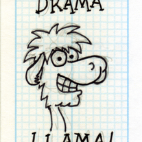 Sketch Card: Larry the Llama