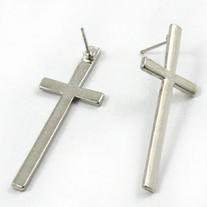 Elegant Long Cross Stud Earrings