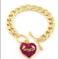 I love  Heart You Bracelet