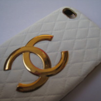 New Luxury Fashion Designer White Sheep Leather iPhone 5 Case