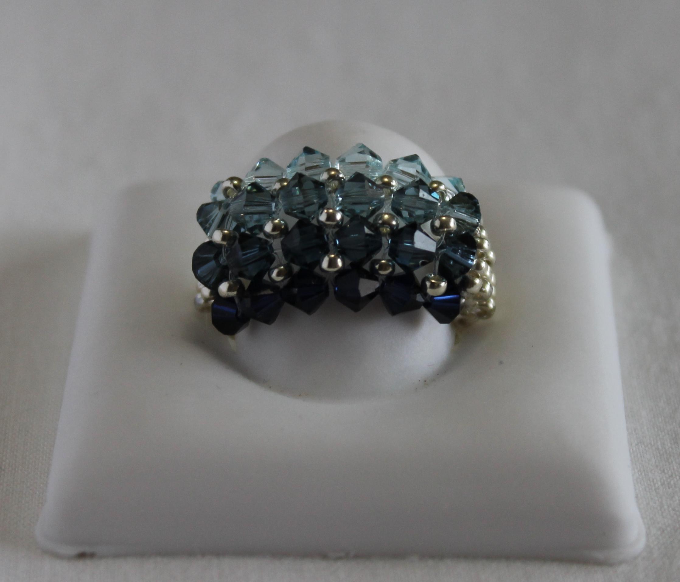 Swarovski ring blue ref a0103 alba 39 s jewelry online for Swarovski jewelry online store