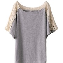 Grey T-shirt with lace