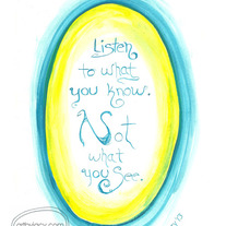 """What You Know"" Blue/Yellow, 8x10 Matte Print Inspiring Watercolor Quote Illustration"