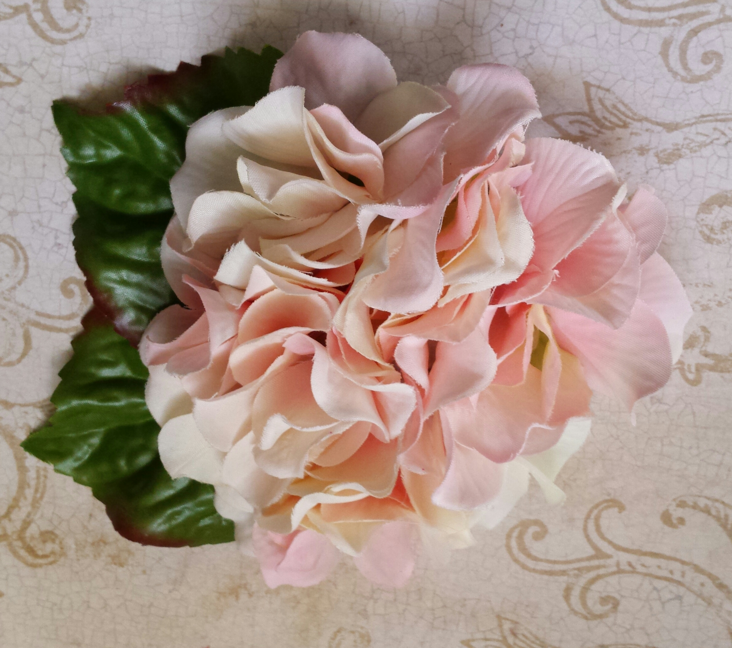 Sugar Lily Accessories Pink And Cream Hydrangea Hair Flower With