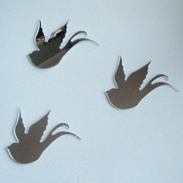 Objectify Bird Mirror - Set of 3