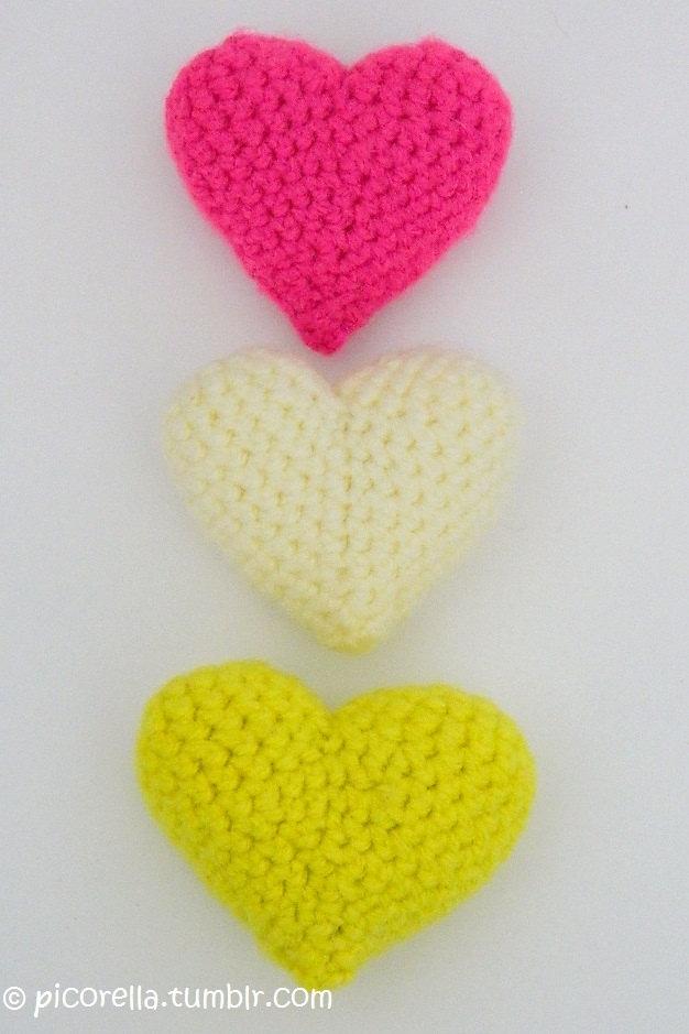Amigurumi Heart Crochet Pattern : PDF Amigurumi Hearts // Amigurumi Hearts Pattern ...