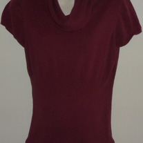 Short Sleeve Maroon Sweater-Oh Baby By Motherhood Size Large
