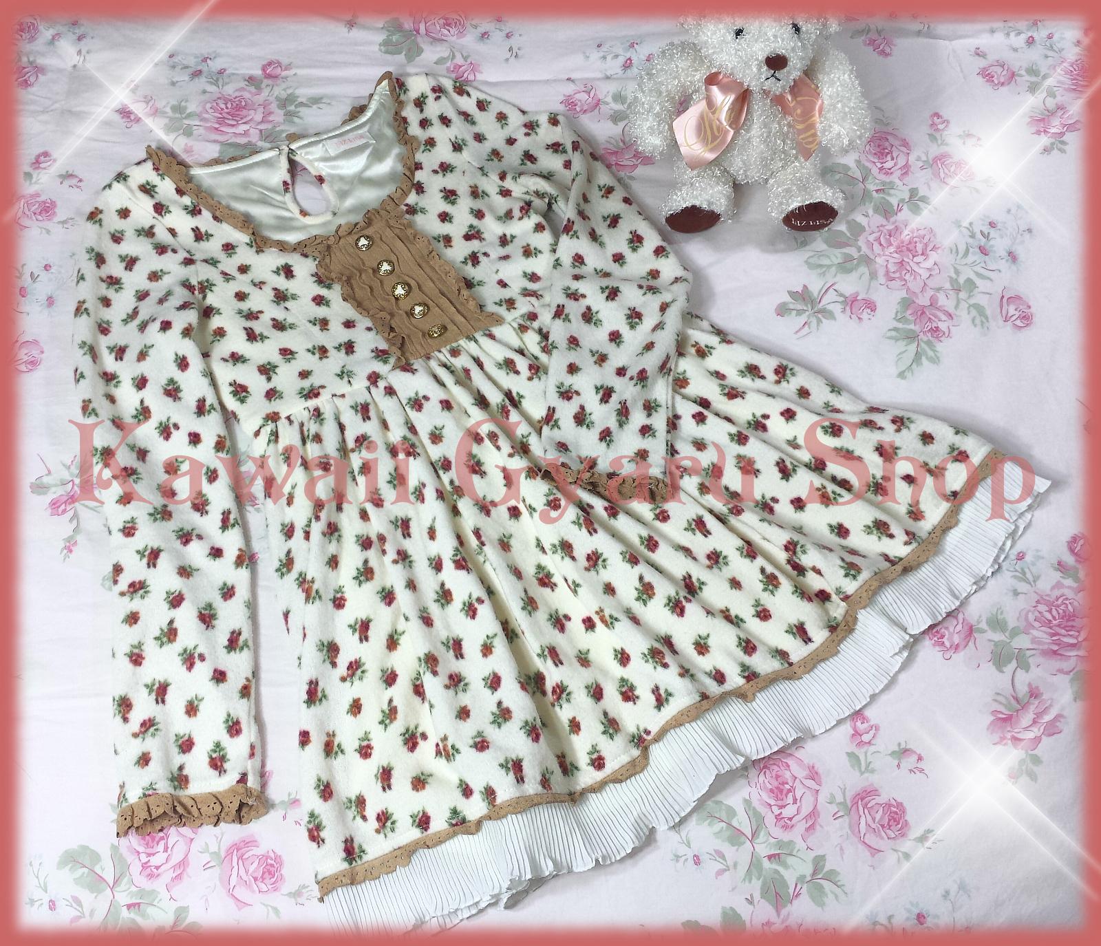 Kawaii Gyaru Shop · Liz Lisa Rose Floral Baby Doll Winter Dress