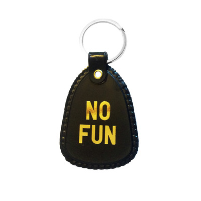 No fun golden keychain