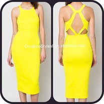 MellowYellow Open-Back Dress