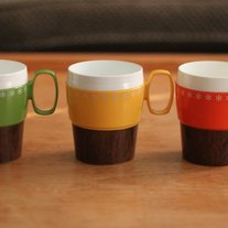 Kitschy Vintage Coffee Cup Set