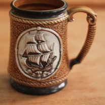 Vintage Nautical Boat Mug