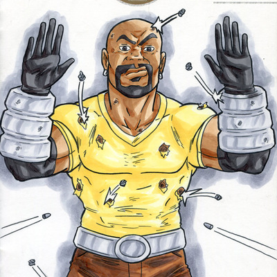 Luke cage hands up don't shoot original art