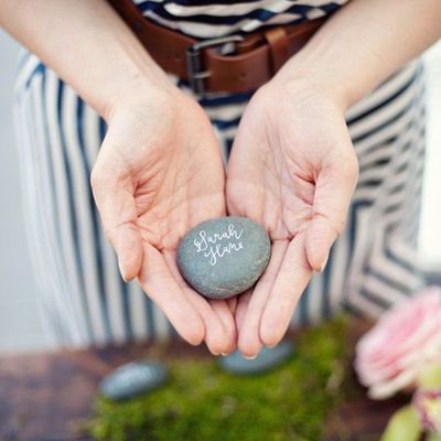 100 wishing stones - (natural) guest book alternative - unique, fun, & eco friendly