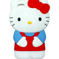 3D Rubber Silicone Hello Kitty iPhone 4/4S Case