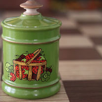 Retro Strawberry Canister
