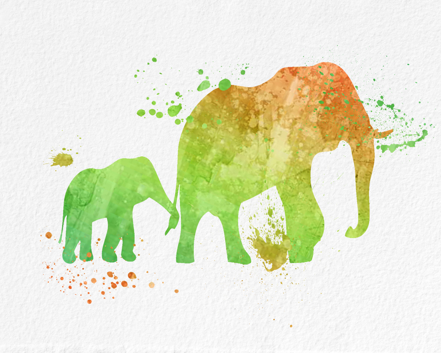 Watercolor Art Elephant gift Modern 8x10 Wall Art Decor Baby and ...