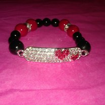 Red Hearts Tag Bracelet (Little Diva Collection)