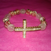 Gold Cross Bracelet (Little Diva Collection)