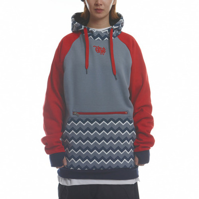 [season off sale] ehoto ski & snowboard signature hoodie - geometry (blue grey)