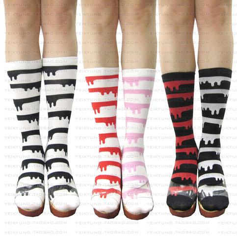 Dripping Stripe Socks