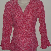 Pink Floral Long Sleeve Top-Baby and Me Maternity Size Medium