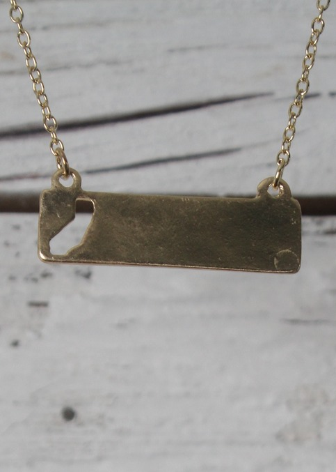 Cali Girl Rectangle Necklace