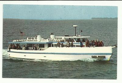 Vintage dolphin deep sea fishing tarpon springs florida for Tarpon springs fishing